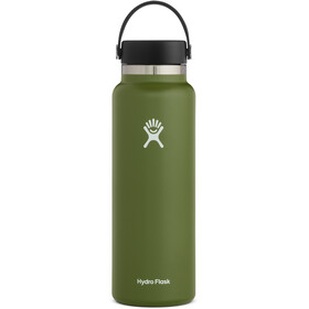 Hydro Flask Wide Mouth Drinkfles met Flex Cap 1180ml, olive
